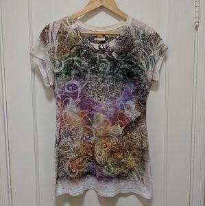 G Girl/ Buckle- Burnout printed tshirt- size XL